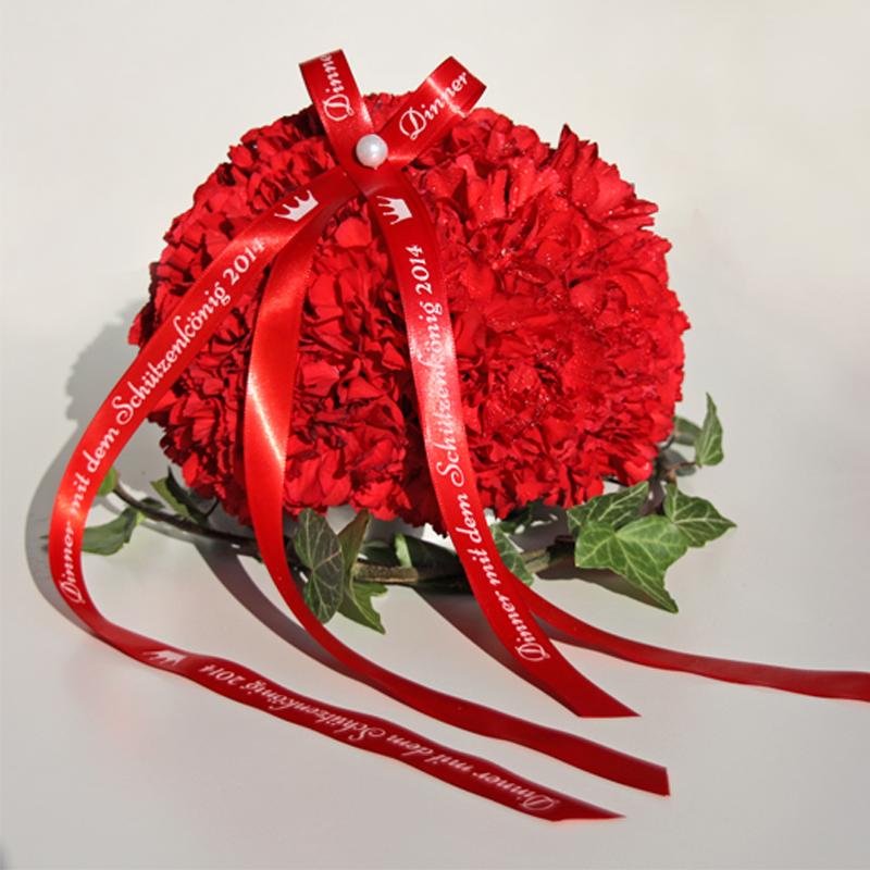 bedrucktes Band, Satinband, Schleife, Geschenk, Geschenkidee, Giveaway, Blumenstrauß, kreativ