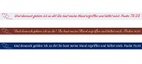 Spruchband - Psalm 73.23 Und dennoch gehöre ich zu dir! Du hast meine Hand ergriffen und hältst mich