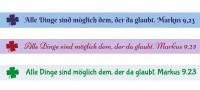 Spruchband - Markus 9,23 Alle Dinge sind möglich dem, der da glaubt.