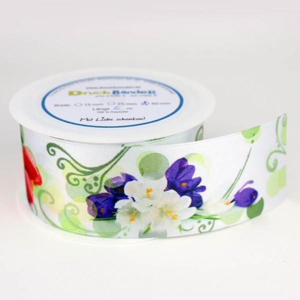 Dekoband - Frühlingsblumen