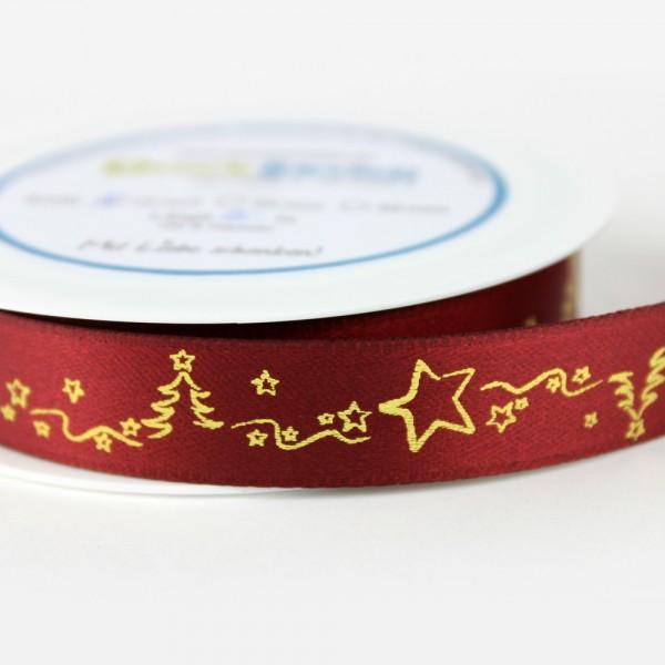 Dekoband - Ranke mit Sternchen und Bäumchen