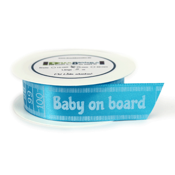 "Dekoband ""Baby on Board"" + Maßband"