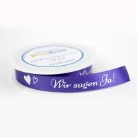 """Dekoband mit Herzen-Motiv und """"Wir sagen Ja!"""" Schriftzug"""