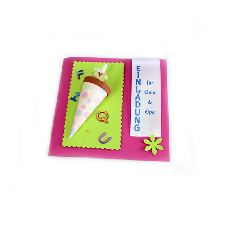 Einladung, Geschenk Kind, Schulanfang, kreative Einladung, kreative Idee, basteln