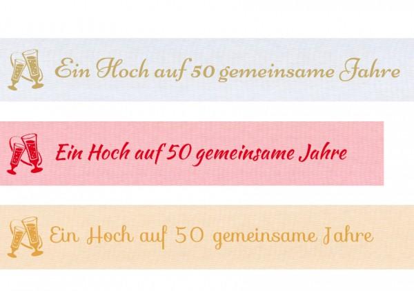 Spruchband - Ein Hoch auf 50 gemeinsame Jahre