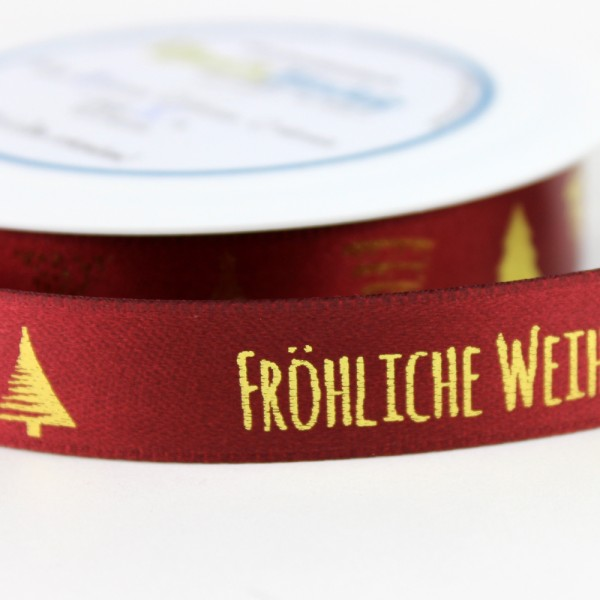 Frohe Weihnachten F303274r Kunden.Dekoband Frohliche Weihnachten Mit Motiv Baumchen