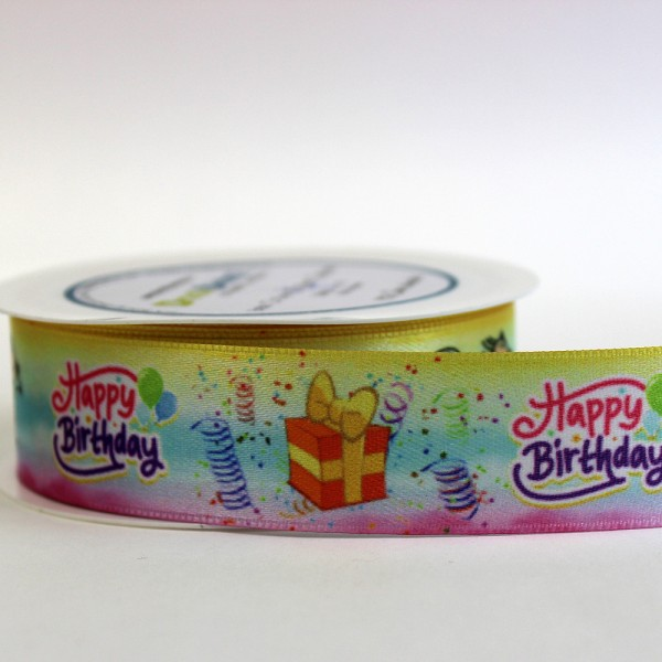 "Satinband ""Happy Birthday"" - Kinder"