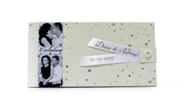 einfarbig bedrucktes Band, Satinband bedruckt, Namensband, Hochzeit, Tischdeko, Basic Print, Einladung Hochzeit