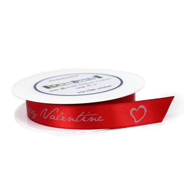 Satinband, Geschenkband, Happy Valentine, Liebe
